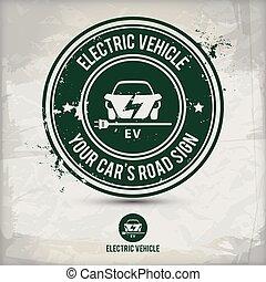 tłoczyć, alternatywa, elektryczny pojazd