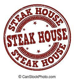 tłoczyć, dom, stek, albo, znak