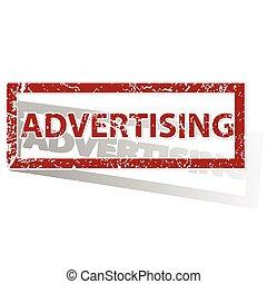 tłoczyć, konturowany, reklama