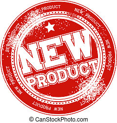 tłoczyć, nowy produkt, wektor, grunge
