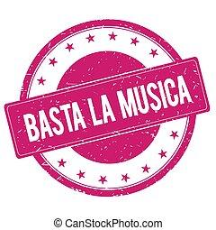 tłoczyć, różowy, magenta, basta-la-musica, znak