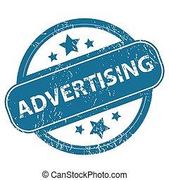 tłoczyć, reklama, okrągły