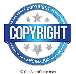 tłoczyć, tekst, copyright