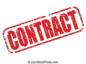 tłoczyć, tekst, kontrakt, czerwony