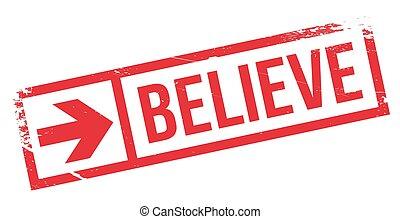 tłoczyć, wierzyć