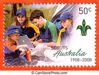tłoczyć, wywiadowcy, odwołany, australijski, opłata pocztowa, circa, 2008, :