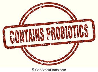 tłoczyć, zawiera, probiotics