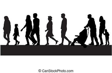 tłum, ludzie piesze