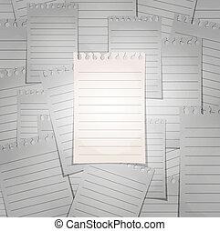 tłum., pojęcie, sheet., notatnik, spirala, wyodrębnienie, liniowany