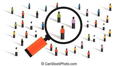 tłum, postępowanie, mierniczy, towarzyski, próbowanie,...