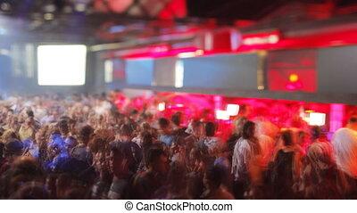 tłum, taniec, razzmatazz, klub, barcelona's, najpoważniejszy