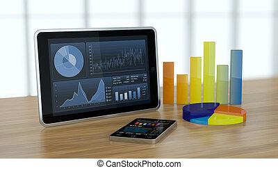tőzsdepiac, és, technológia, fogalom