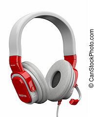 třídimenzionální, headphones., 3