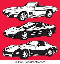 tři, corvettes