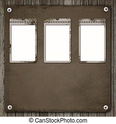 tři, dávný, noviny, konstrukce, nad, neurč. člen, dávný, dřevo, grafické pozadí