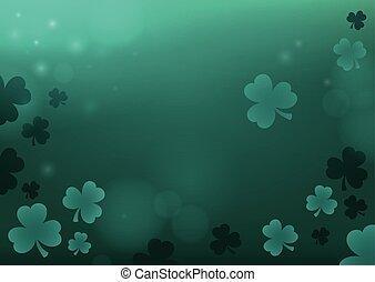 tři, list, jetel, abstraktní, grafické pozadí, 4