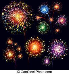 tűzijáték, állhatatos