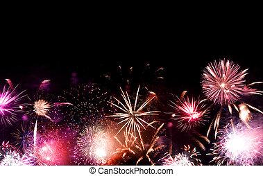 tűzijáték, finálé, nagy