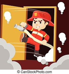 tűzoltó, sahed, ajtó