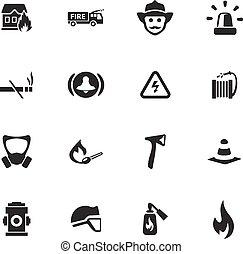 tűzoltók, ikonok, állhatatos