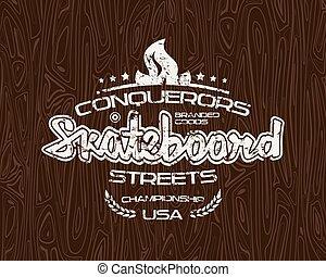 tシャツ, スケートボード, 紋章
