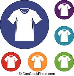 tシャツ, テニス, セット, 男性, アイコン