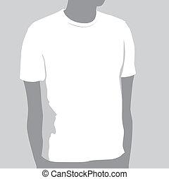 tシャツ, テンプレート