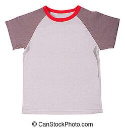 tシャツ, バックグラウンド。, 白, 隔離された, 子供