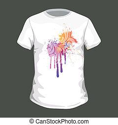 tシャツ, ベクトル, デザイン, カラフルである