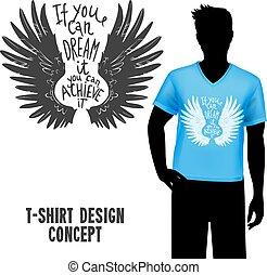 tシャツ, レタリング, デザイン