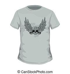 tシャツ, 型, ベクトル, デザイン