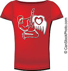 tシャツ, 女性