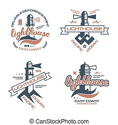 tシャツ, 灯台, 紋章