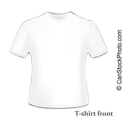 t恤衫, 前面, 邊