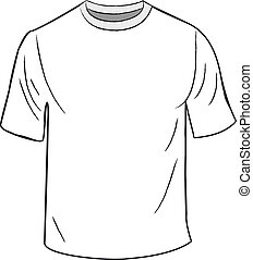 T恤衫, 白色, 設計, 樣板