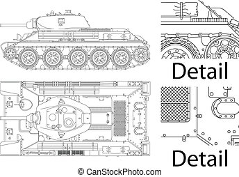 T 34 - High detailed vector illustration of T34 - WWII...