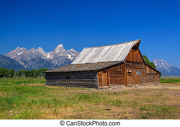 ∥, t., a.。, moulton, 納屋, ある, a, 歴史的, 納屋, 中に, ワイオミング, 米国