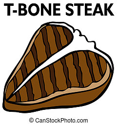 An image of a T-Bone steak.