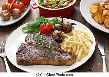 T-bone steak, porterhouse steak, bistecca alla fiorentina