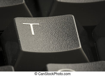 t, brief, toetsenbord