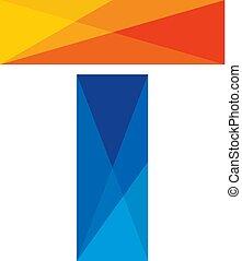 T Colorful Letter Logo Icon Design
