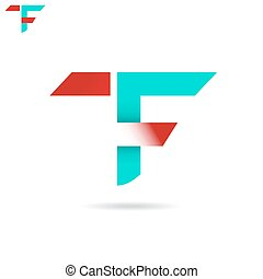 T F letter icon - T and F letter icon, t f logo concept, 2d...
