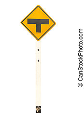 T-junction traffic signage
