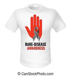 t-, koszule, świadomość, rare-disease