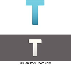 T Letter Alphabet Abstract vector text logo