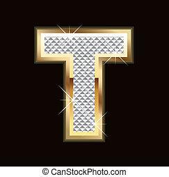 T letter bling bling