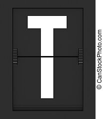 T Letter from mechanical timetable board - Letter from a ...