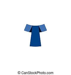 t logo letter blue icon symbol design element