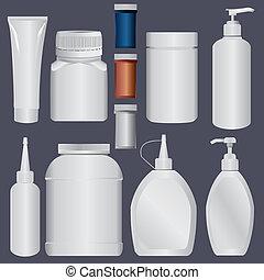 t, lotion, flaska, plastisk