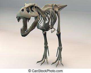 T-Rex 3D skeleton